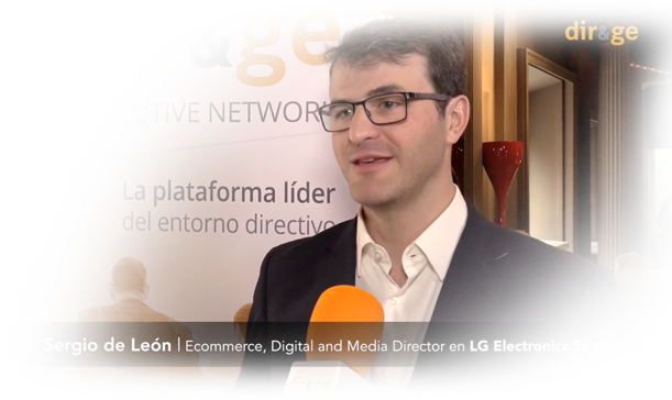 Entrevista de DIR&GE a Sergio de León - Ecommerce, Digital and Media Directos en LG Electronics