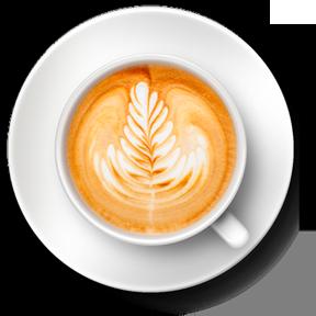 Taza de cafe vista desde arriba
